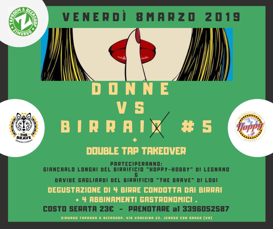 Donne VS Birrai 8 Marzo da Zimurgo a Jerago con Orago (VA)