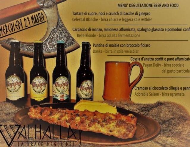 """VALHALLA – La Brace degli Dei – PRESENTA IL MENU' DEGUSTAZIONE """" FOOD AND BEER """" 28 Marzo a Milano"""